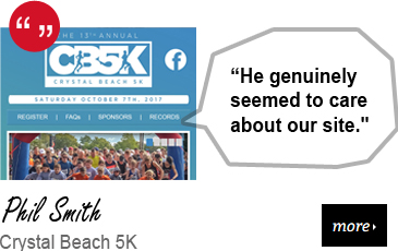 Web Design Testimonial - Crystal Beach 5K