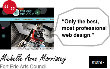 Web Design Testimonial - Fort Erie Arts Council