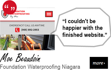 Web Design Testimonial - Foundation Waterproofing Niagara