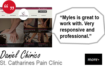 Web Design Testimonial - St. Catharines Pain Clinic