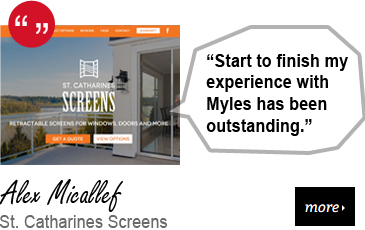 Web Design Testimonial - St. Catharines Screens