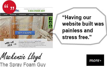 Web Design Testimonial - The Spray Foam Guy